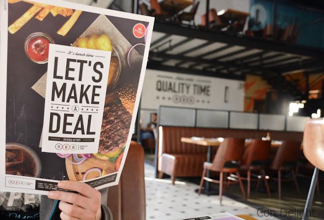 העסקיות של BBB ירושלים deal meal