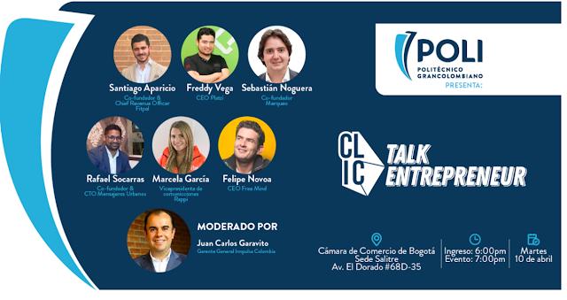 Evento Gratuito Cupo Limitado: Se hablara sobre emprendimiento con 7 líderes de empresas que empezaron como un sueño