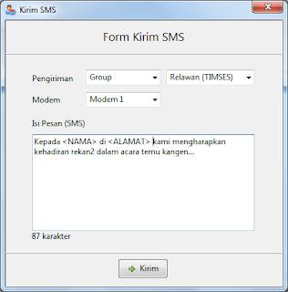 Menyisipkan Nama & Alamat Penerima Saat Mengirim SMS & Chat