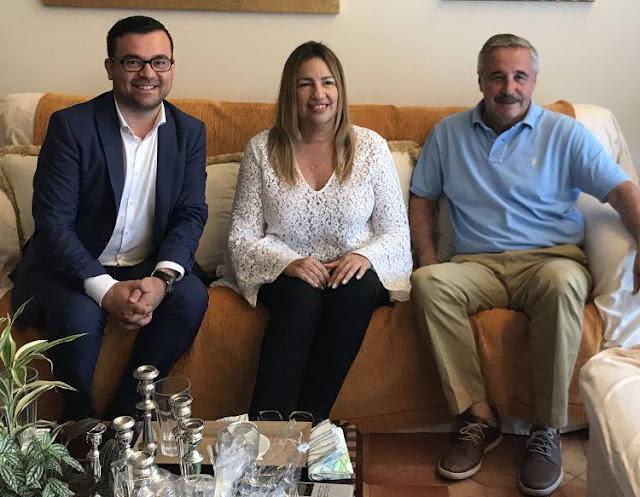 Συνάντηση Φ. Γεννηματά - Γ. Μανιάτη με τον πρώτο Έλληνα Δήμαρχο της Γερμανίας