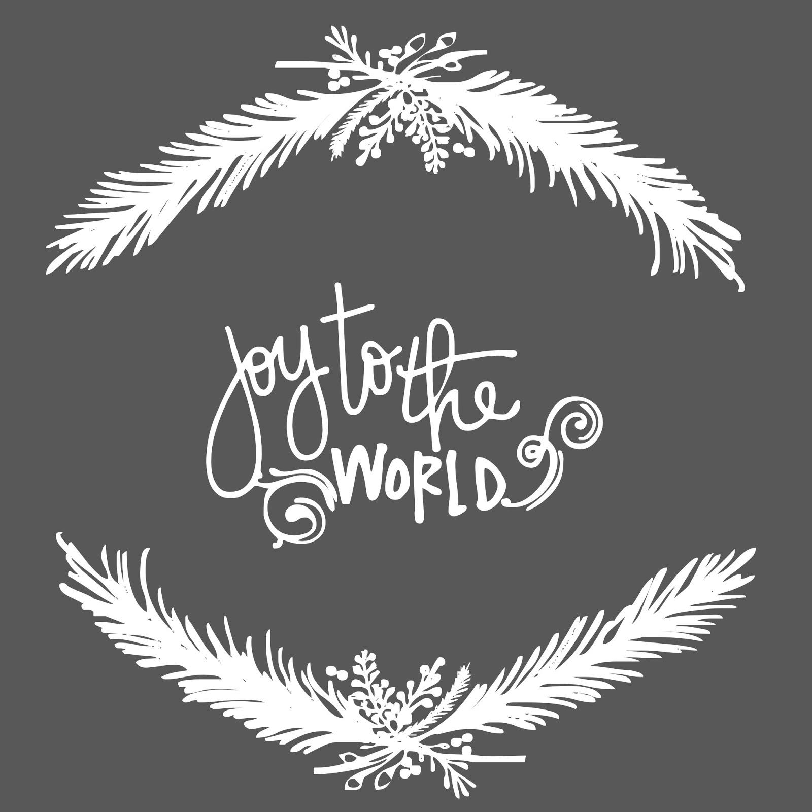 Joy to the World free Christmas Printable Square