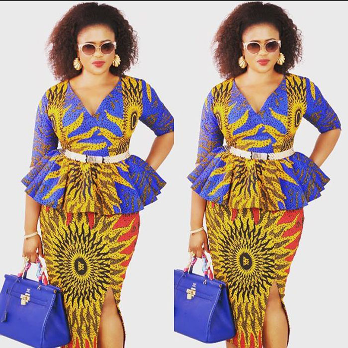 Lovely Nigerian Ankara Skirt And Blouse Styles For Ladies