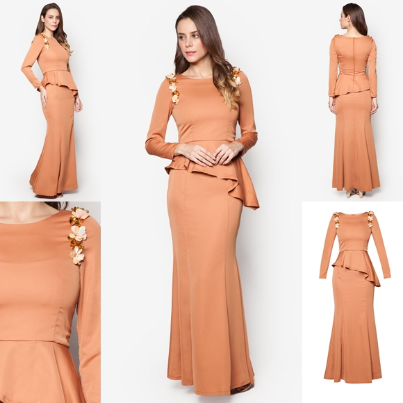 November 2016 Baju Kurung Moden Peplum Laila Brown By Vercato - Fesyen Trend Terkini
