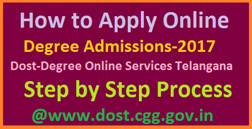 How to Apply Online For Degree Admissions-2017 in Telangana-DOST  Degree Online Services in Telangana DOST | Online Application for UG Degree Admissions-2017 in all Universities of Telangana State | How to Apply Online for Degree B.Sc, B.Come, BA, .... Instructions to fill Online Application Form from OU Admissions Co Ordinator | Step by Step Process to Apply Online for DOST Degree Admissions Programme inTelangana for Osmania University, Mahathma Gandhi University, Kakatiya University KU Palamuru University PU how-to-apply-online-for-degree-admissions-dost-telangana