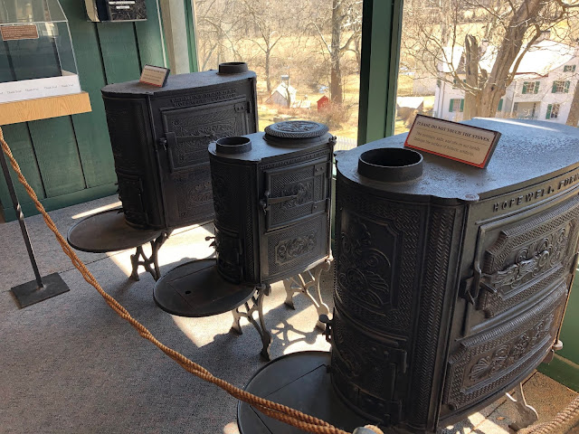 Iron stoves manufactures at Hopewell Furnace an early iron plantation in Elverson, Pennsylvania