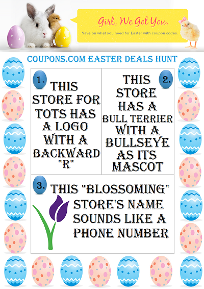 coupons easter deals hunt