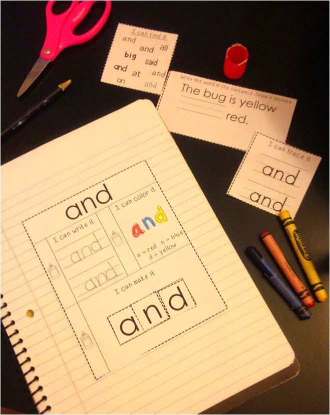 http://www.teacherspayteachers.com/Product/FREE-Simple-Sight-Words-Interactive-Notebook-Sample-1488050