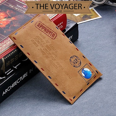 dompet hp kulit import leather case wallet iphone 7 samsung s7 xiaomi vintage unik lucu
