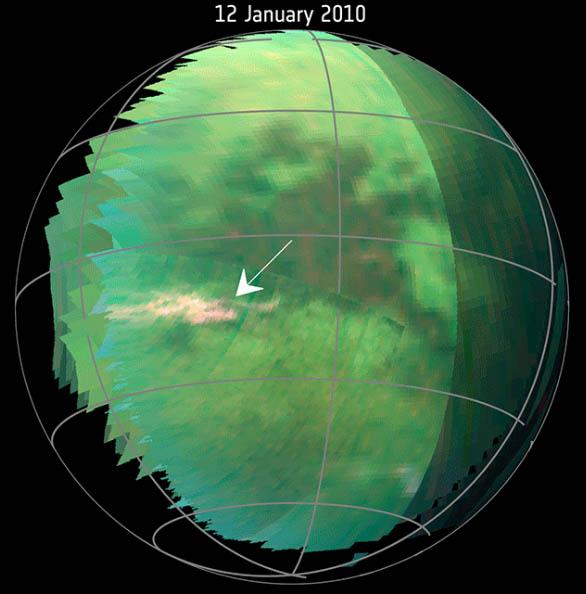 imagens no infravermelho mostram tempestade em Titã