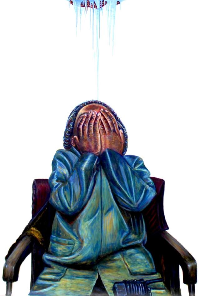 Южноафриканский художник. Mthobisi Maphumulo