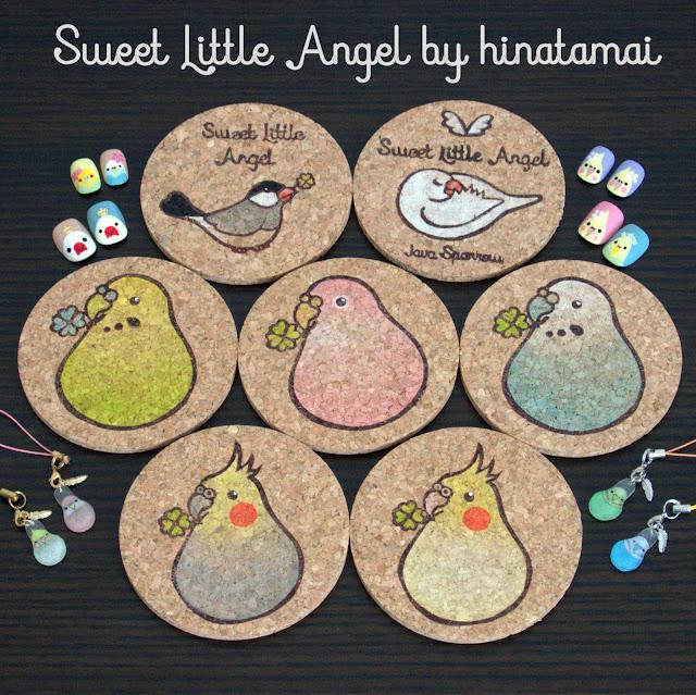 Sweet Little Angel 小鳥 コースター