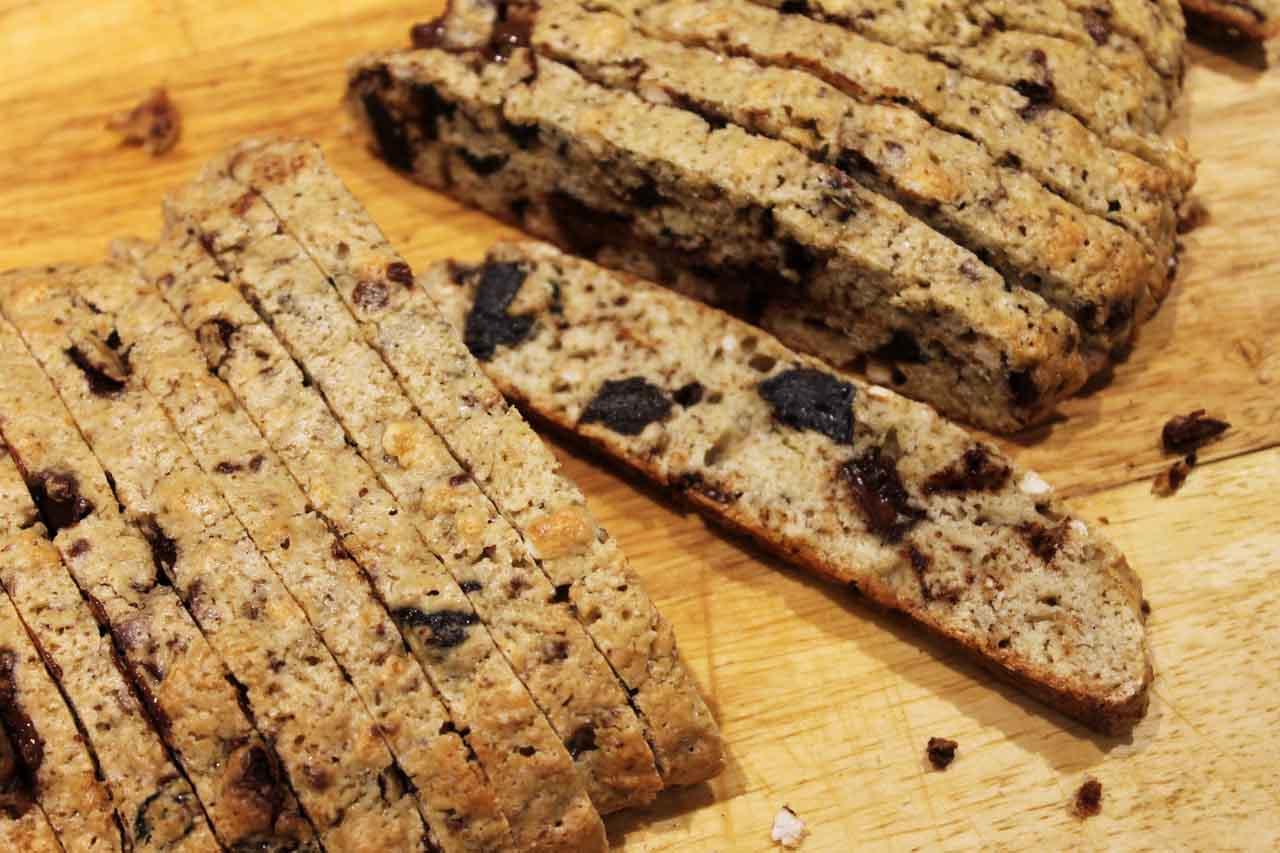 Biscotti Chocolate, Ciruela, Arroz inflado
