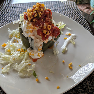 Keto taco stuffed pepper