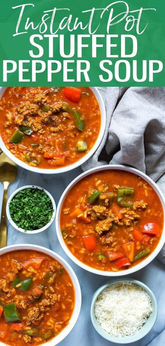 INSTANT POT STUFFED PEPPER SOUP RECIPES