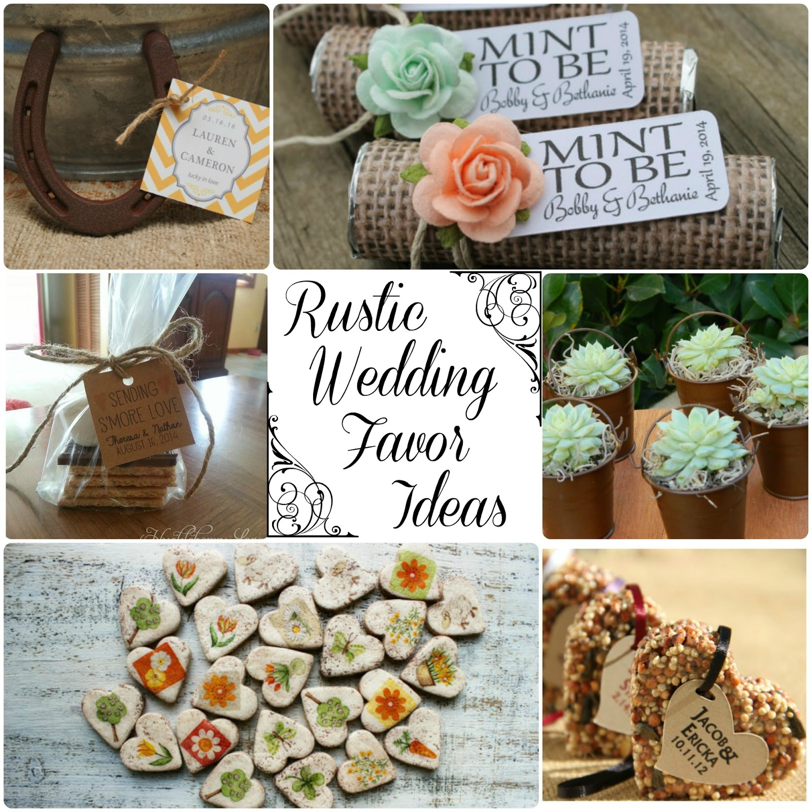 Rustic Wedding Favor Ideas Round Up