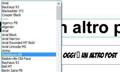 font utilizzabili