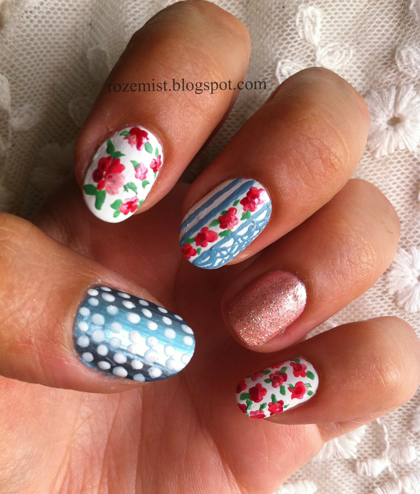 Nail Arts By Rozemist: Cath Kidston/Vintage Inspired