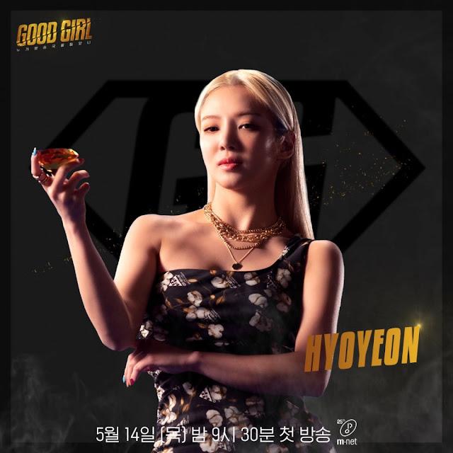 snsd hyoyeon mnet good girl