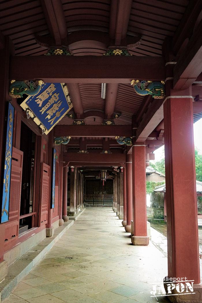 Couloir, temple Sôfuku-ji, Nagasaki