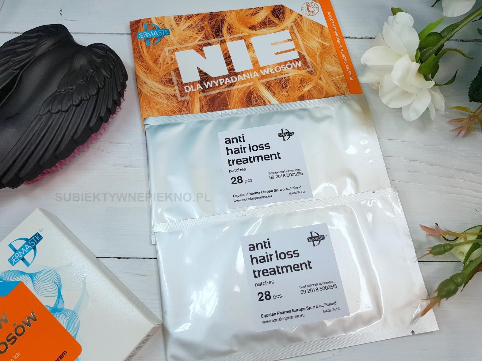 plastry przeciw wypadaniu włosów dermastic działanie, blog, opinie