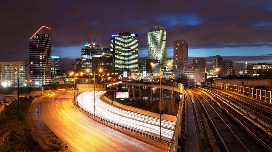 30. Leaving Canary Wharf by Paul Newcombe