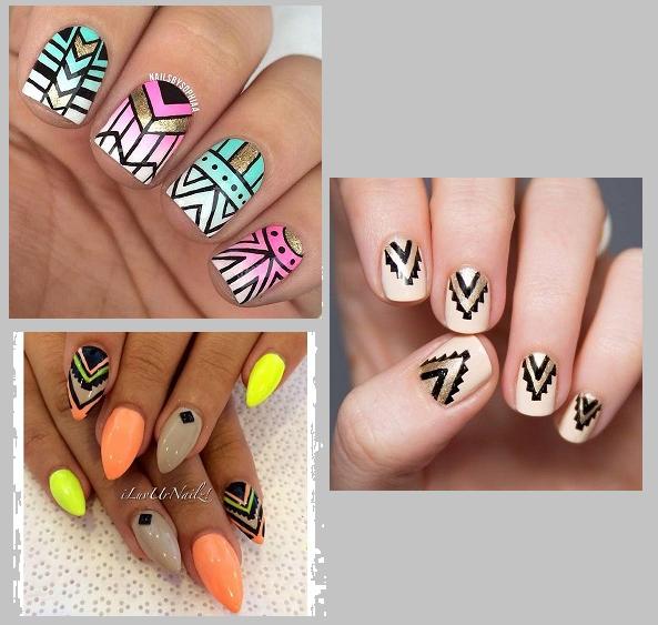 manicure aztecki 2016 lato