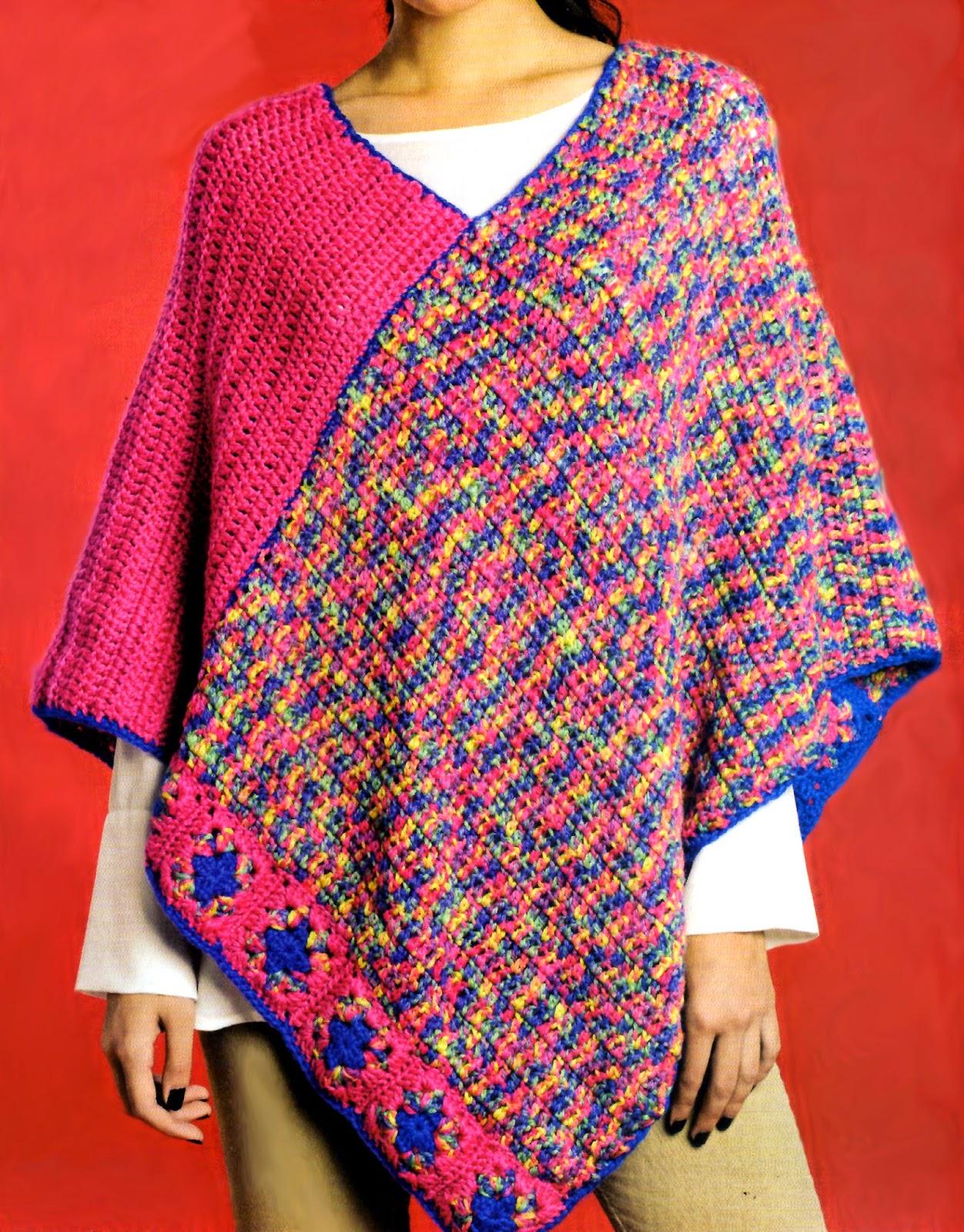 Tejidos Artesanales En Crochet Poncho Tejido En Crochet