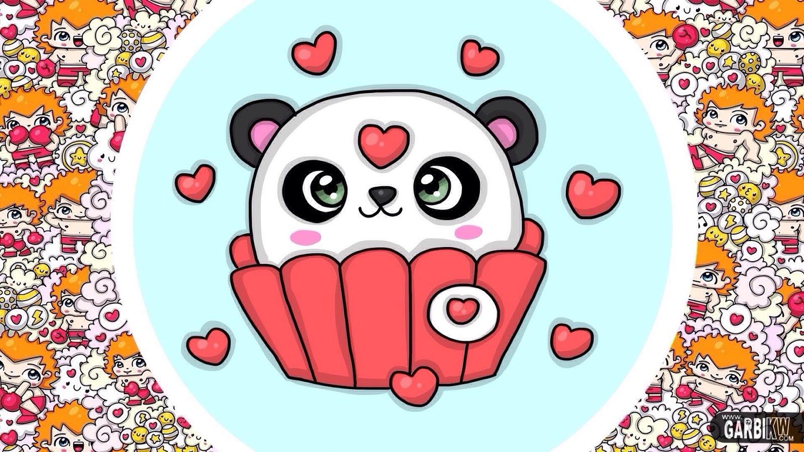 How To Draw Kawaii Panda Cupcake Easy Drawings Hello