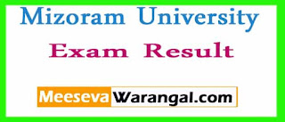 Mizoram University IMBA Management IIIrd Sem Dec 2016 Exam Results