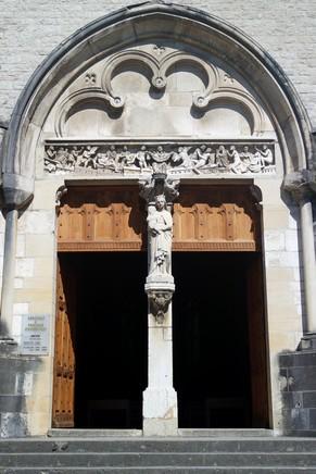ain abbaye ambronay église portail