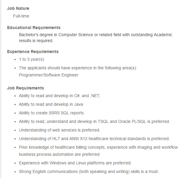 junior software developer job description - Barcaselphee