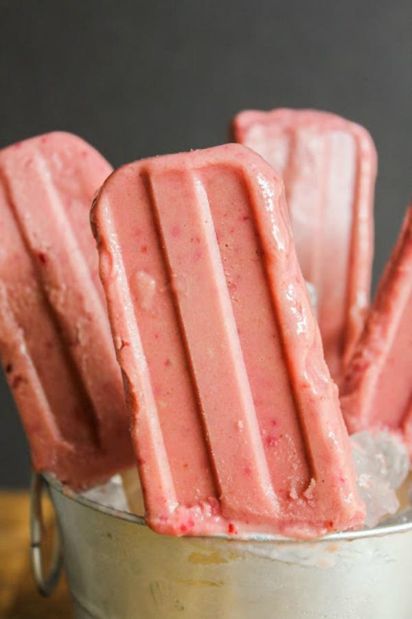 Cherry Yogurt Pops from Chef Next Door
