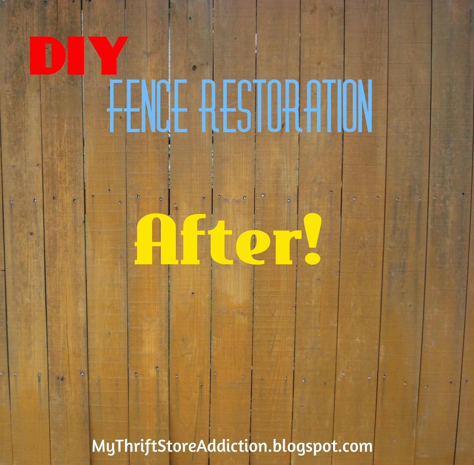 DIY wood fence restore