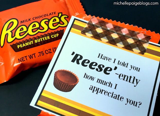 Peanut Butter Cups Thank You Printable