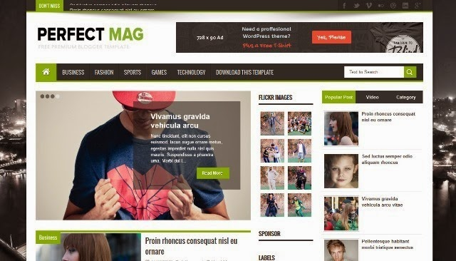 Perfect Mag Magazine Blogger Template
