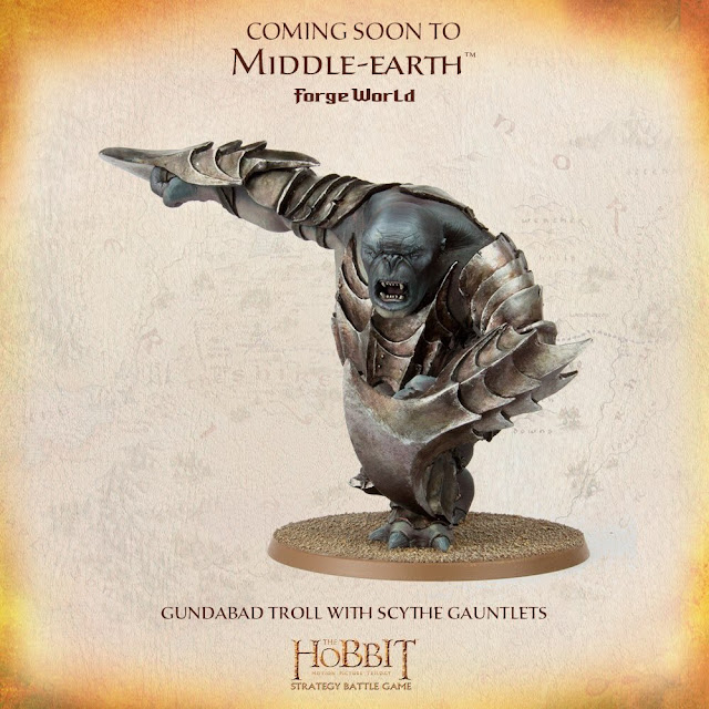 Forge World The Hobbit Gundabad Troll Scythe Gauntlets Miniature