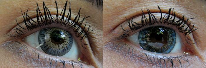 Review & Tragebilder: Graue & Blaue Kontaktlinsen von farblinsen-shop by aricona
