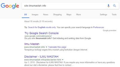 Contoh Domain Terindex