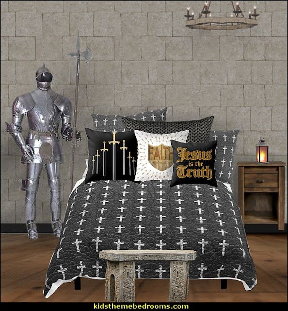 crusader knights bedroom christian bedding  Jesus for kids - Bible Stories wall murals - Christian Bible Verse wall decal stickers - Christian home decor - bible verse wall art -  inspirational bedding - Christian bedding - Christian kids toys - Lion and Lamb toddler beds -  bible stories for kids - Christening Baptism Gifts - Psalm bedding - Scripture throw pillows - bible verse throw pillows -  Vacation Bible School Decorations