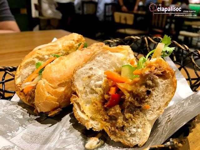 Chili Sambal Braised Beef Banh Mi