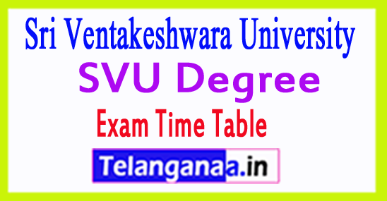 SVU Degree Exam Time Table