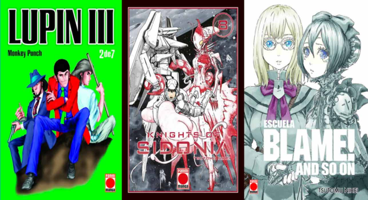 Lupin III, Knights of Sidonia y Blame! Gakuen and so on