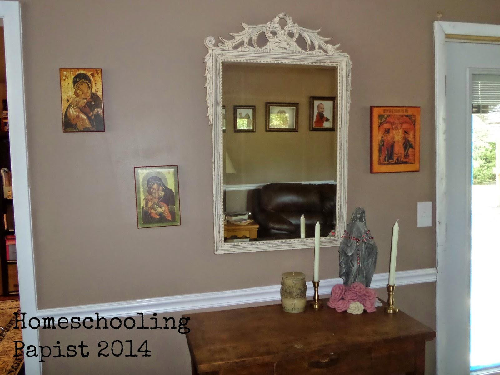 Homeschooling Papist Our Homeschool Room