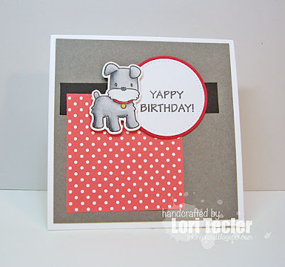 Yappy Birthday card-designed by Lori Tecler/Inking Aloud-stamps from Mama Elephant