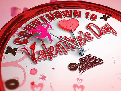 Countdown to Happy Valentine Day