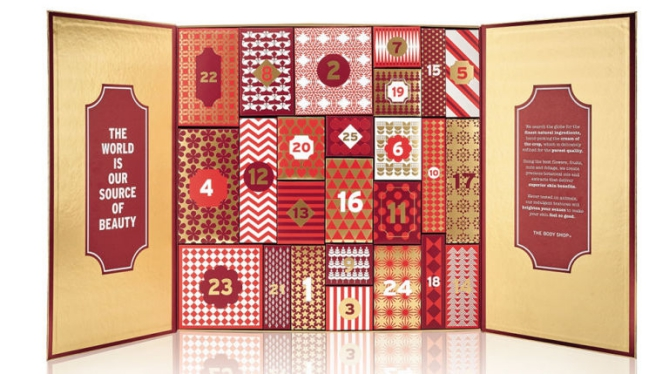 The Body Shop beauty Advent calendar 2016