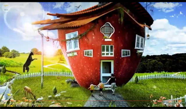 """Photoshop Tutorial: Making a Design of  """"My Apple House"""""""
