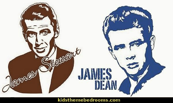 James Stewart - James Dean wall decal, sticker, mural