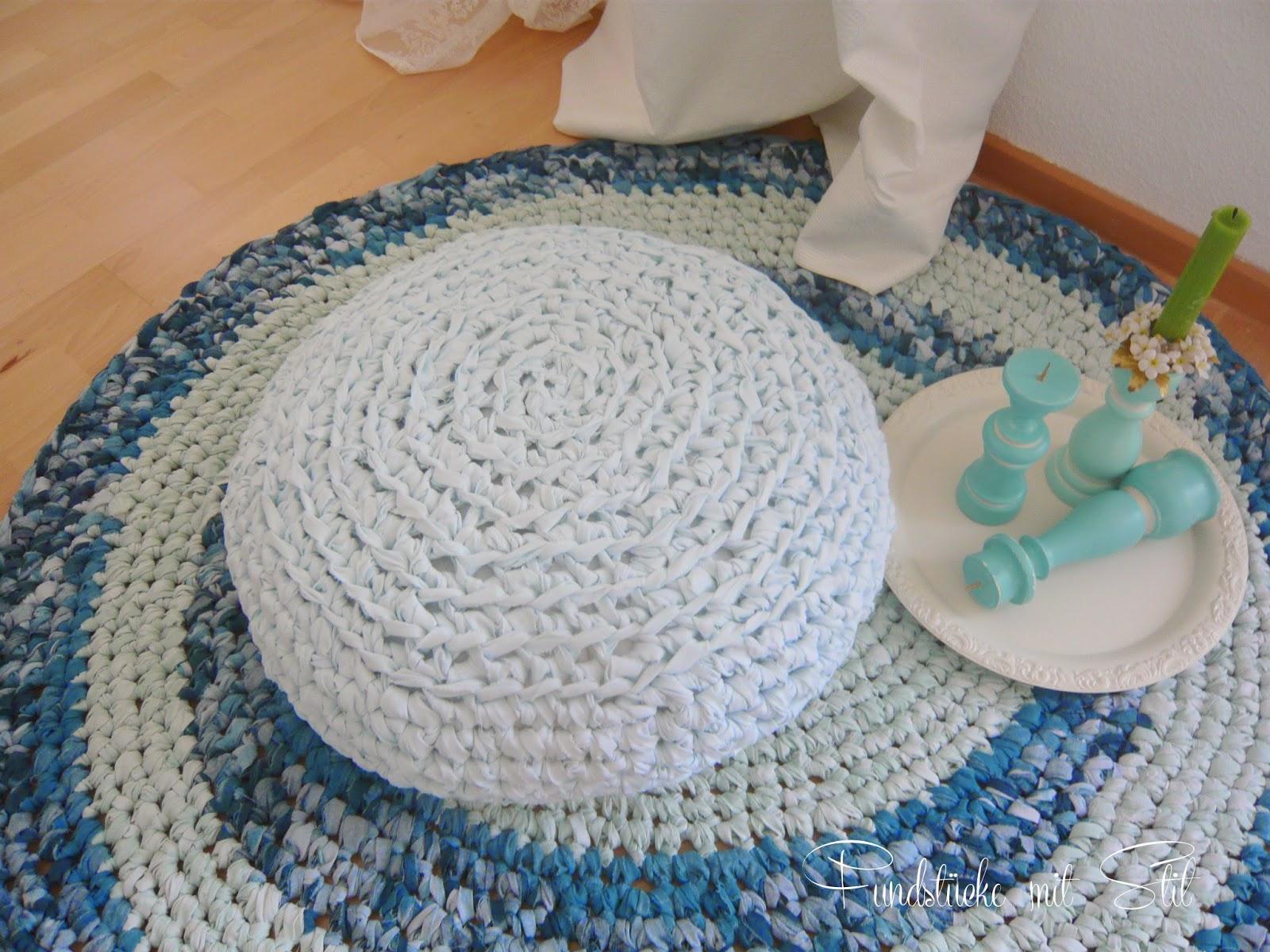 Fundstücke mit stil: diy  teppich aus bettwäsche