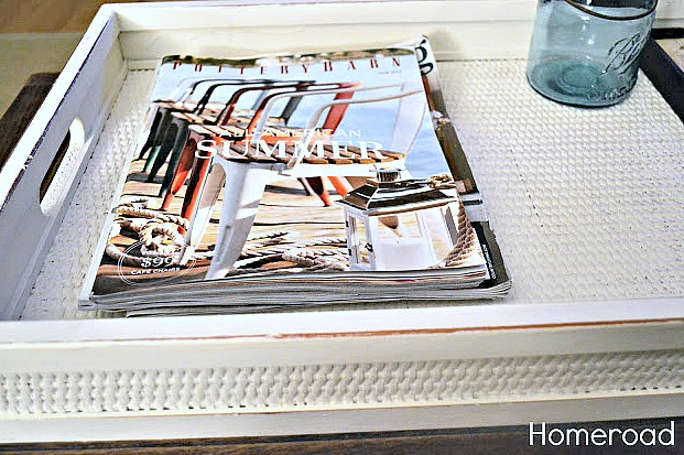 DIY Upcycling a Woven Nautical Tray. Homeroad.net